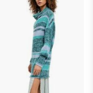 Free People Candy Stripe Tunic Med NWT waterfalls